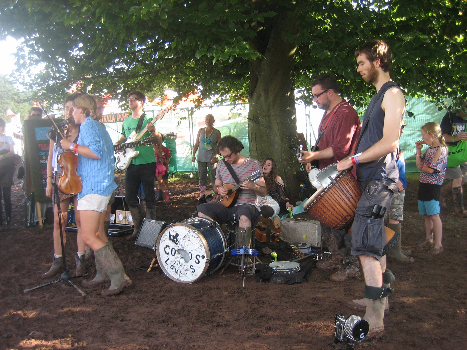 band playing under the trees, Green Man
