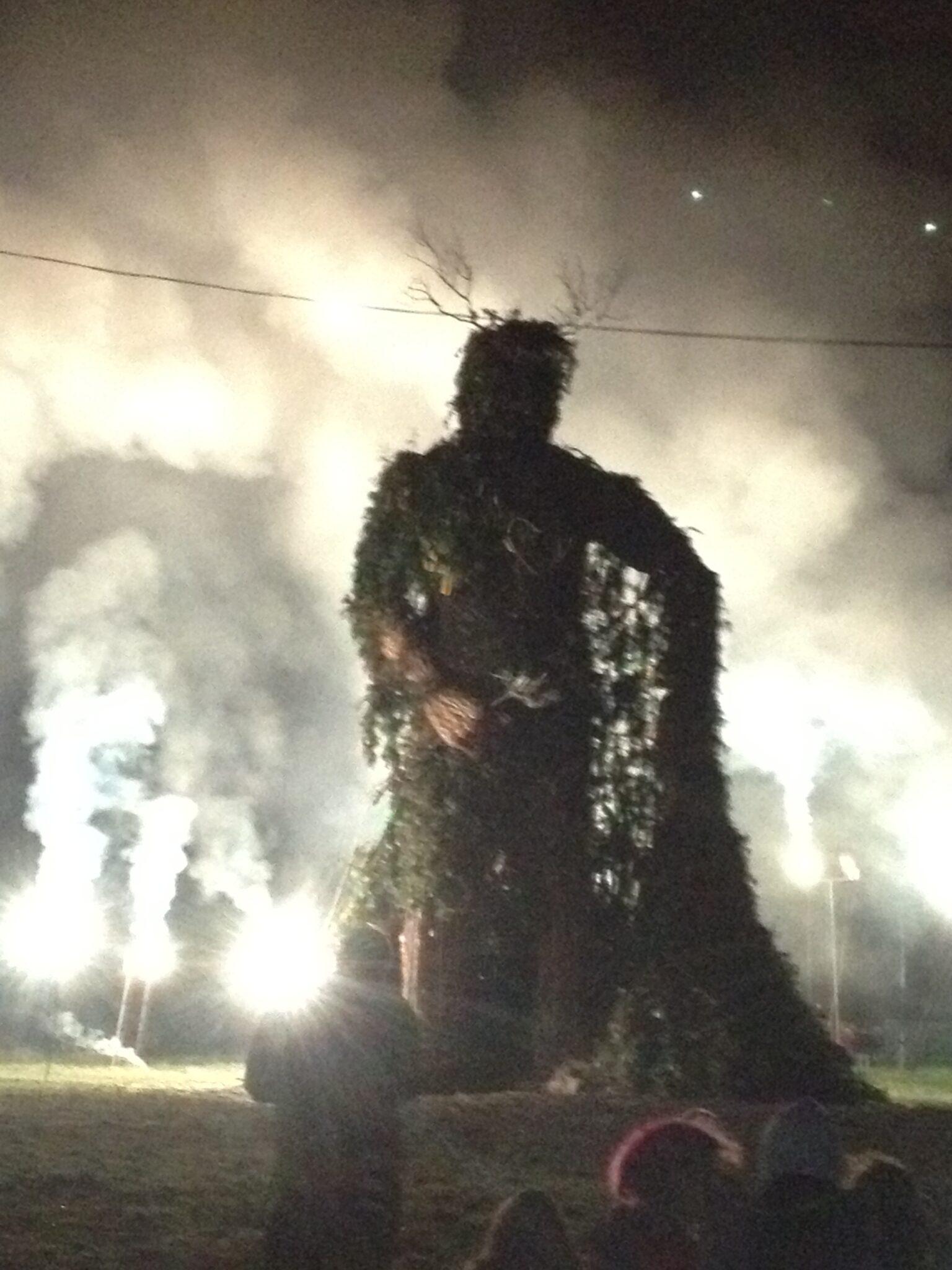 The Green Man burning at Green Man festival 2012