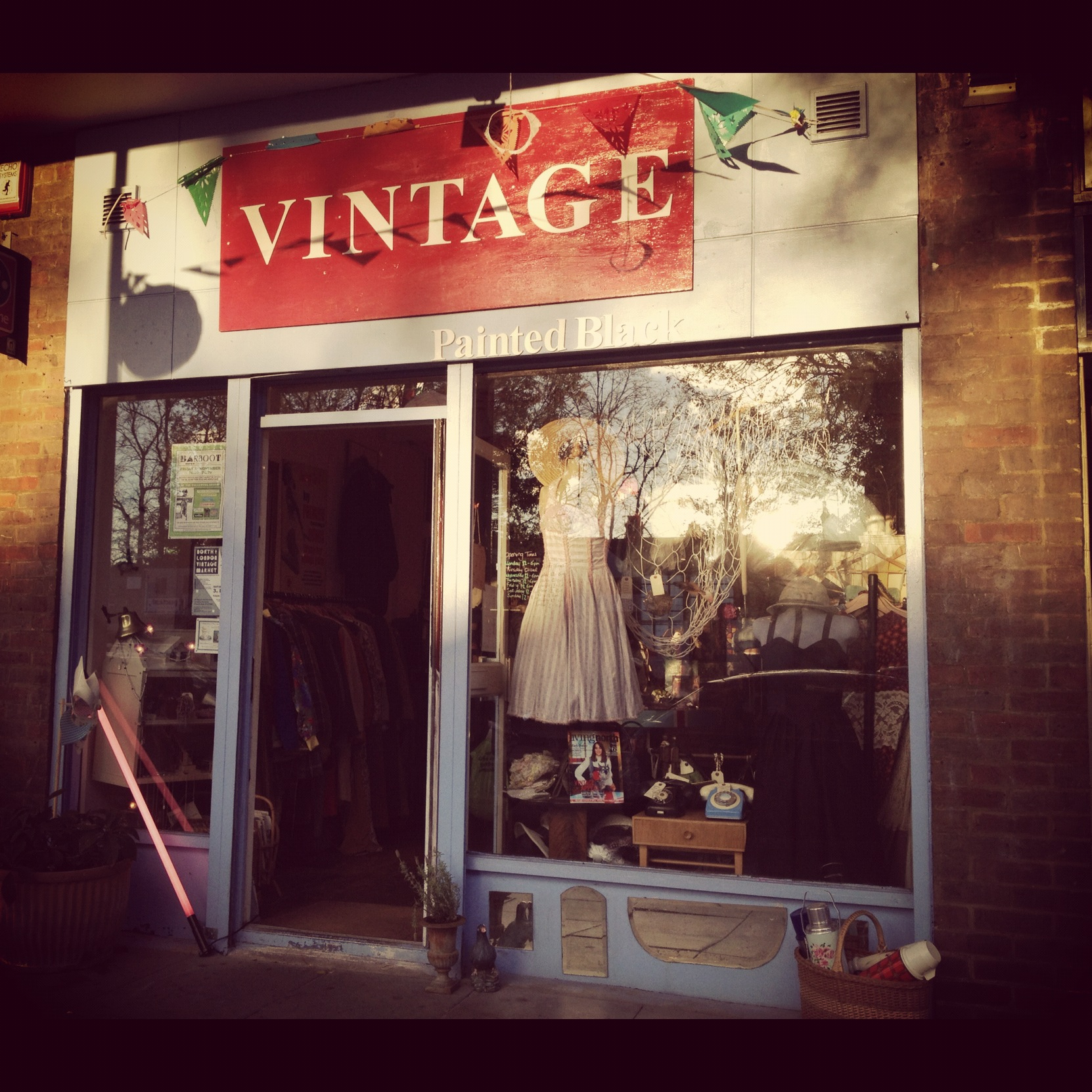 Painted Black vintage shop Crouch End