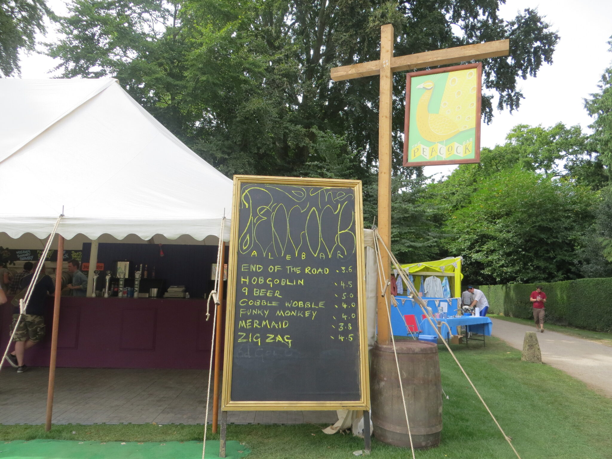 Bar at festival