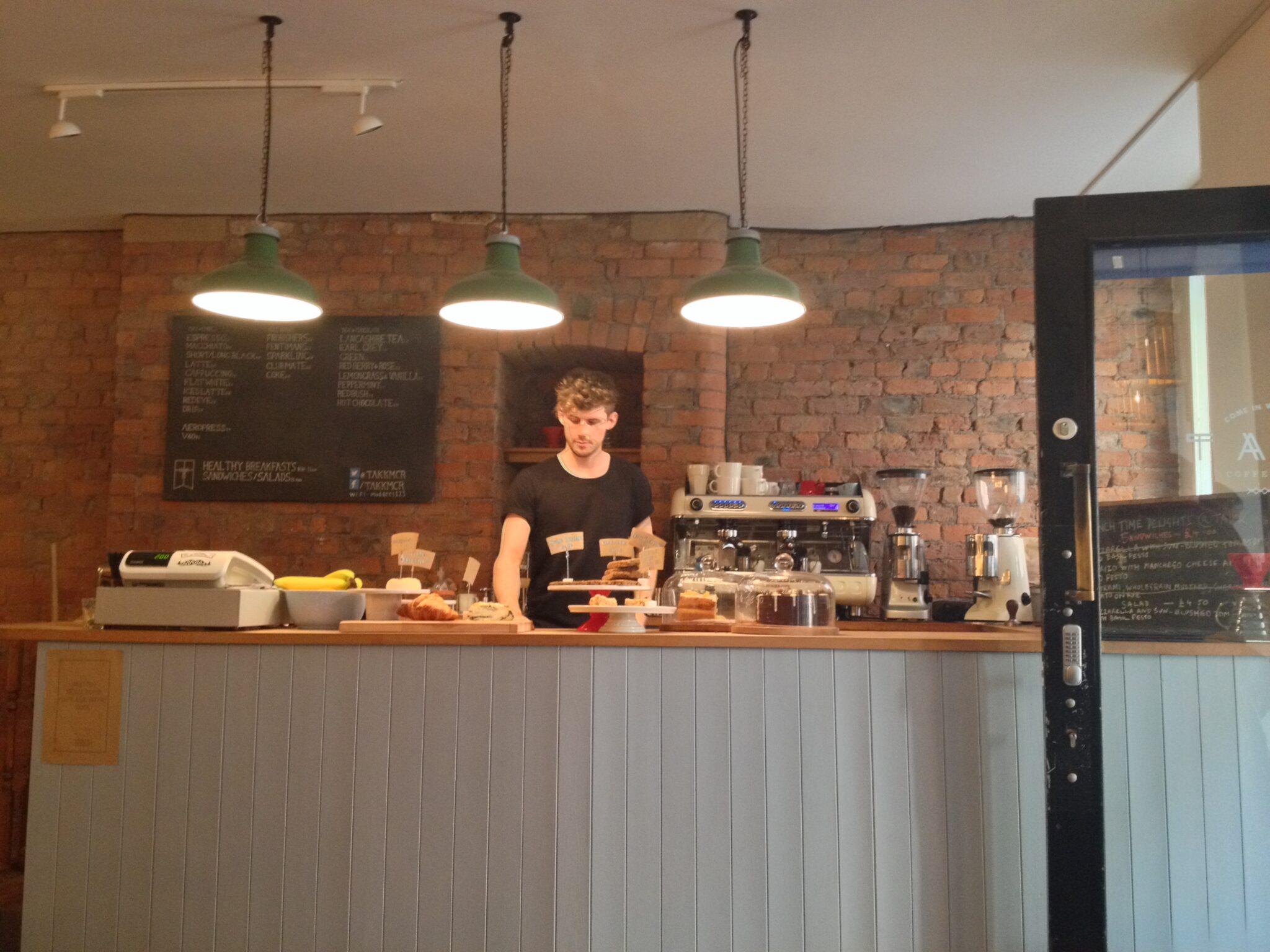 Takk cafe interior Manchester