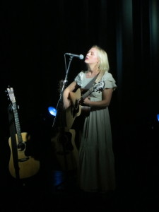 Laura Marling singing at York Hall
