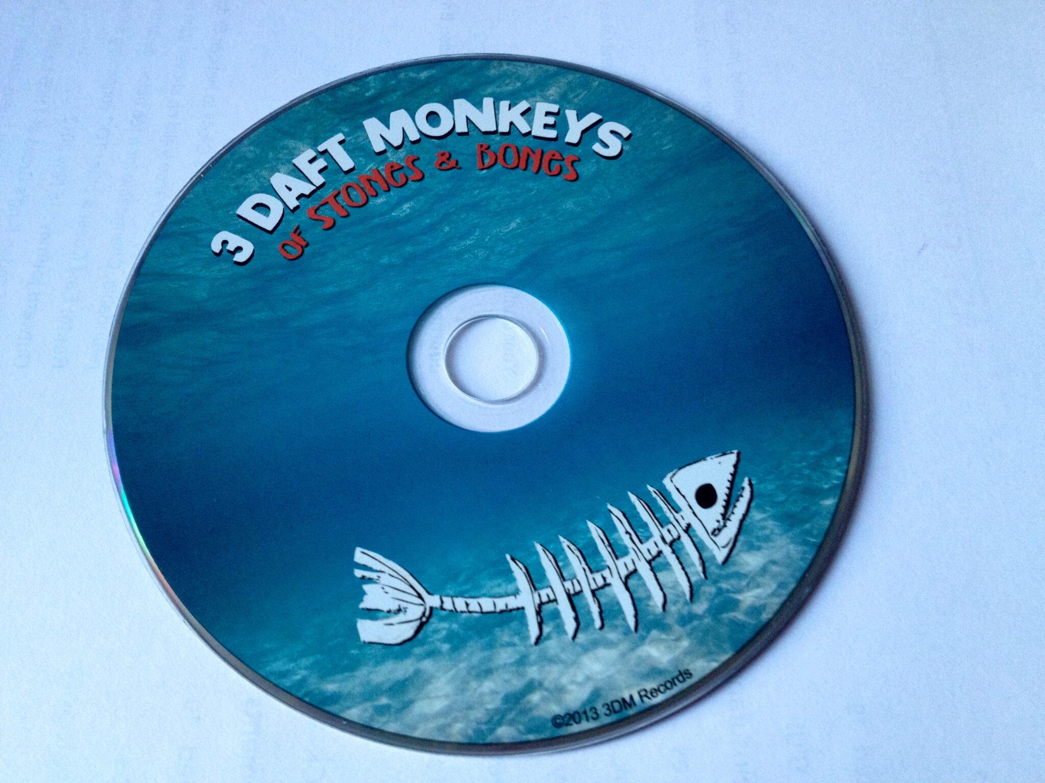 "3 Daft monkeys ""Of Stones and Bones"" CD imagine"