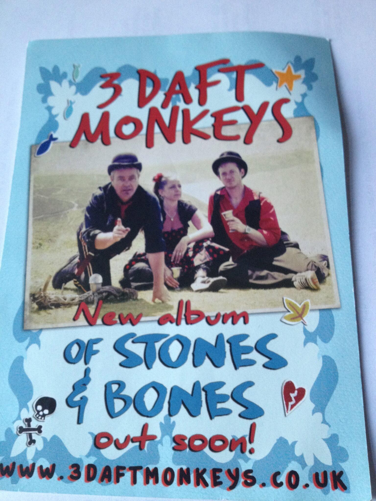 3 Daft Monkeys flyer