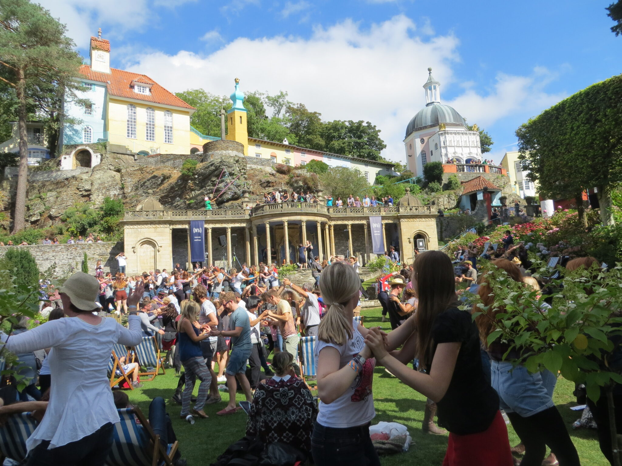 Dancing at Portmeirion Festival No 6