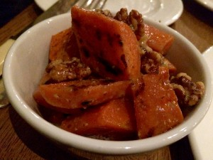Grilled carrot, soured cream & walnut at Pitt Cue