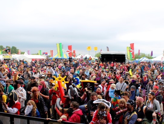 festival crowd at Bearded Theory