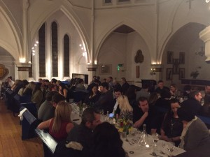 SDC - Diners pack the Nordic Church