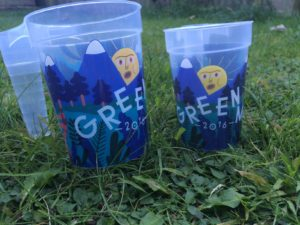 Green Man 2016 cups