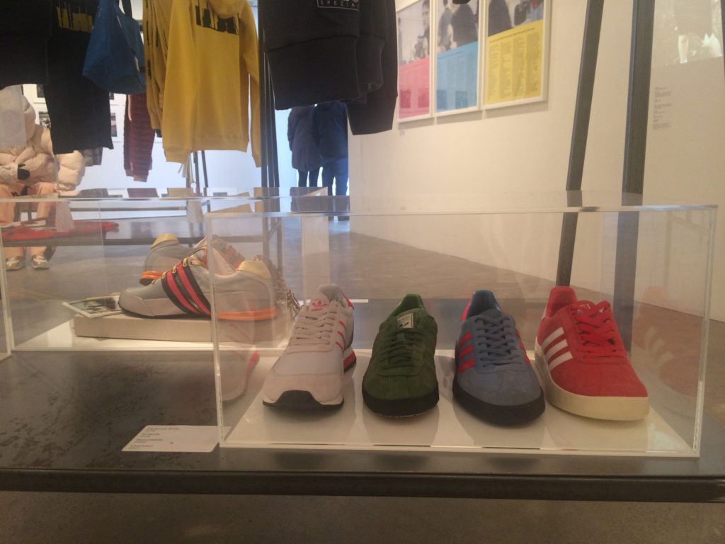 Open Eye Gallery North exhibition with Adidas trainers