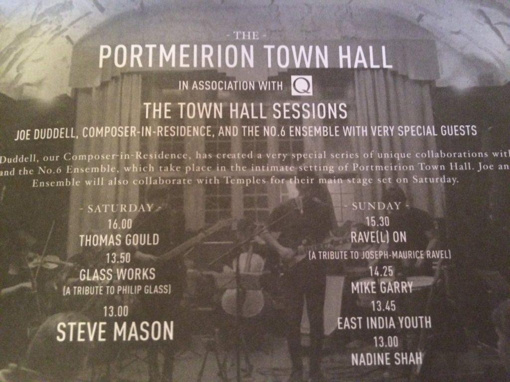 Festival No 6 2014 programme page