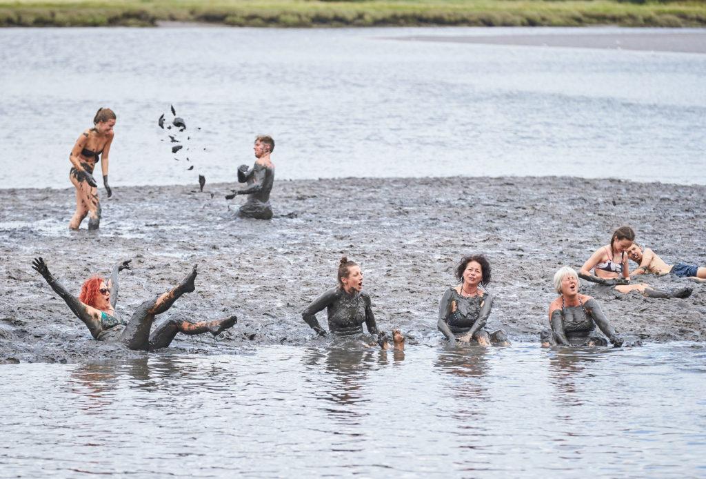 Muddy swim at Port Eliot