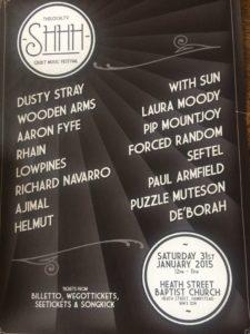 SHH quiet music festival poster