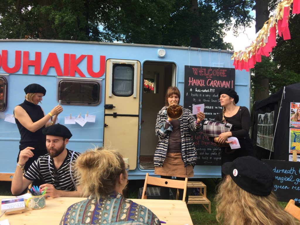 Haiku caravan at Green MBritish Sea Power Green Man 2017 at Festival 2017