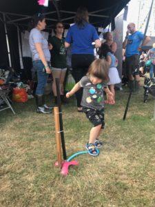 rocket making at Bluedot