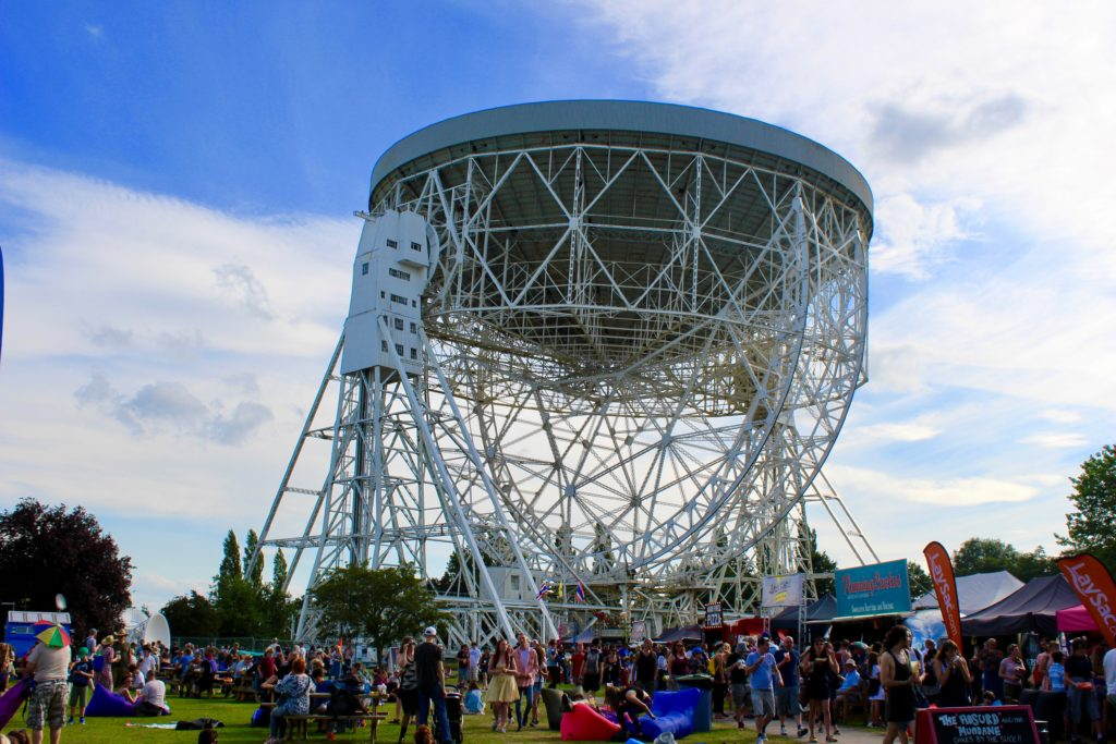 Bluedot festival under Jodrell Bank
