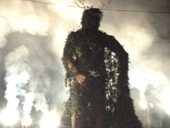 The Green Man burning at Green Man festival 2012