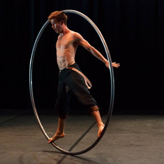 Tom on Cyr wheel