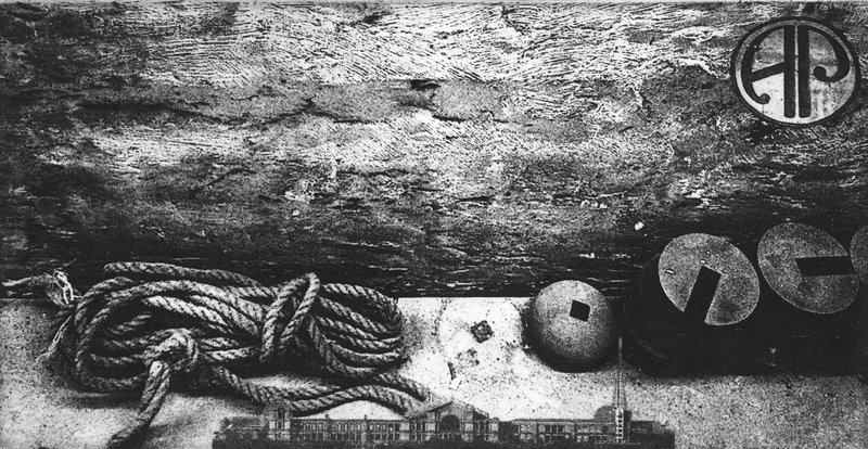 Rope and Weights etching