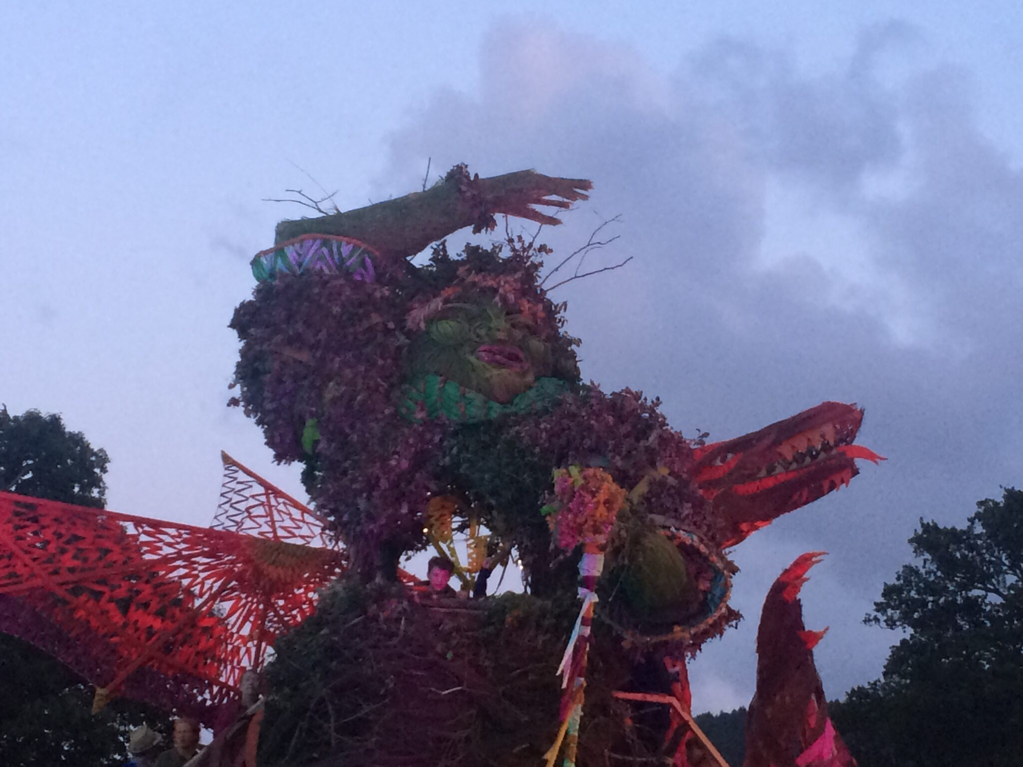 Green Man and dragon