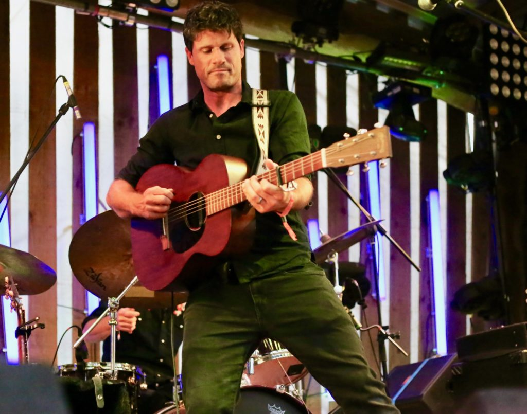 Seth lakeman on stage at Bearded Theory