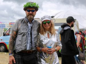 Dressing up couple at Bearded Theory